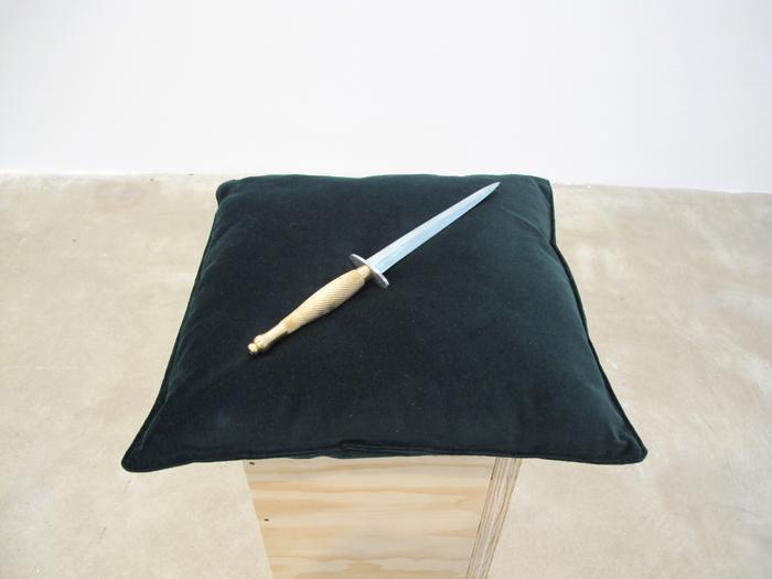 James Balmforth, Exchange , 2012, gallium and brass, 14 x 2 in