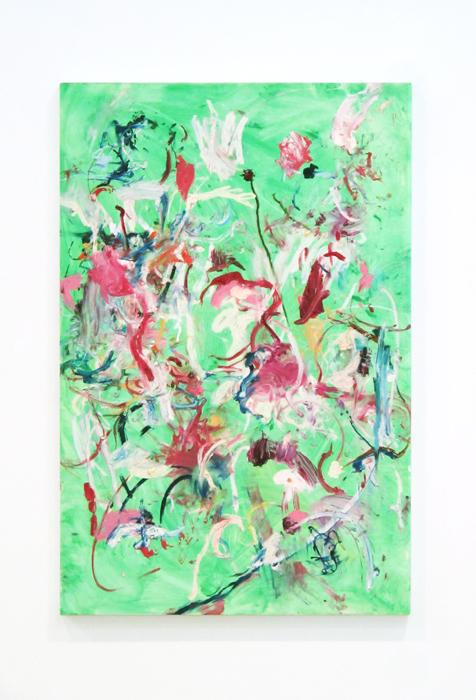 Shaun McDowell, Untitled , 2011, oil stick on board, 47 x 31.5 in
