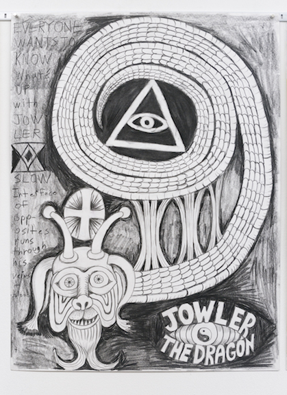 Charles Irvin, Jowler , 2016,pencil on paper,24 x 18 in