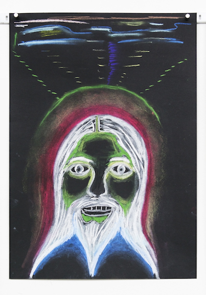 Charles Irvin, Green Wizard , 2016,pastel on paper,17 x 12 in