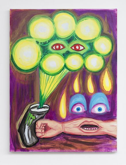 Charles Irvin, Monster Punch , 2016,acrylic and oil on canvas,24 x 18 in