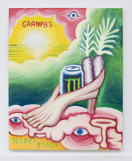 Charles Irvin, Grandpa's Secret Stash , 2016,oil on canvas,30 x 24 in