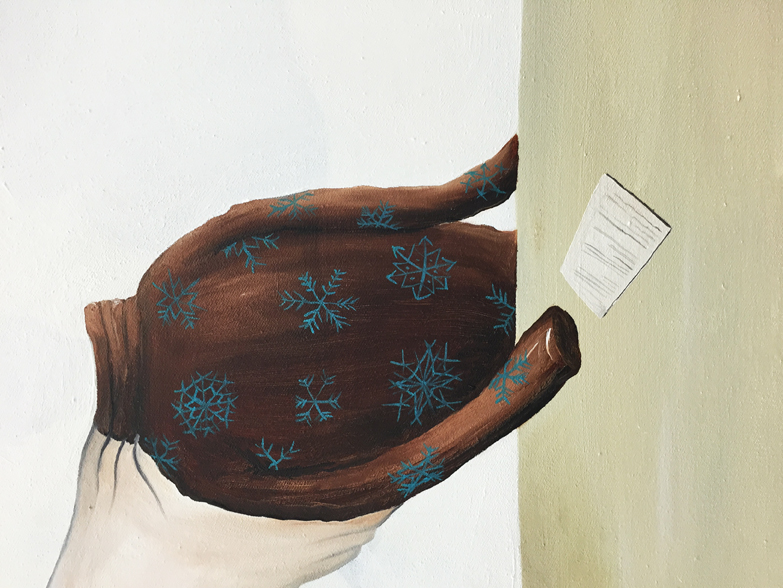 Urban Zellweger, Weather Report  (detail), 2016, oil on canvas, 27.6 x 28 in