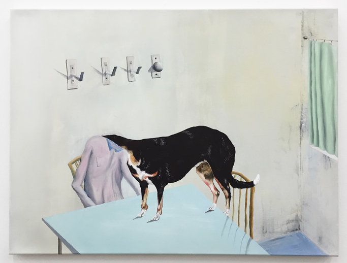Urban Zellweger, Dog Day , 2016, oil on canvas, 27.2 x 24.8 in