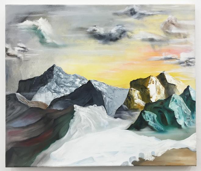 Urban Zellweger, Couples , 2016, oil on canvas, 17.7 x 20.9 in