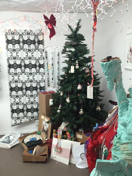 Installation view, 2015 Holiday Bazaar , STL, NY