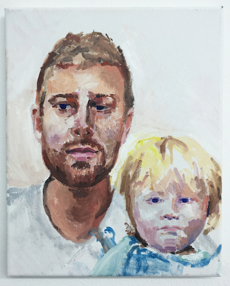 Nolan Simon,  Ryan and Sylva , 2015, oil on canvas, 10 x 8 in
