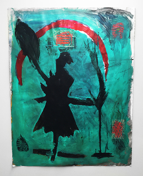 Anna de Los Reyes, Untitled , 2015,mixed media on paper (double sided),50 x 38.5 in