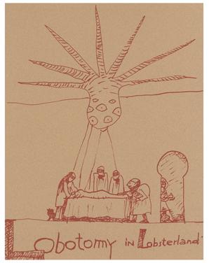 Jack Smith, Lobotomy in Lobsterland , n.d.,silkscreen print,11 x 8.5 in
