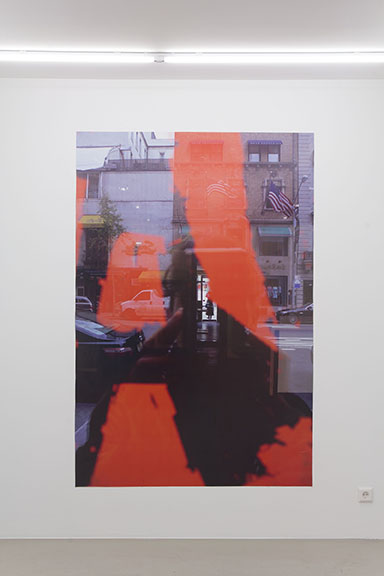 Rose Marcus,  Robert Motherwell , 2013, adhesive vinyl, 80 x 53 in