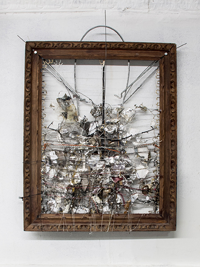 Robert Bittenbender,  Untitled,  2014, frame, mixed media, 30.5 x 24.5 in