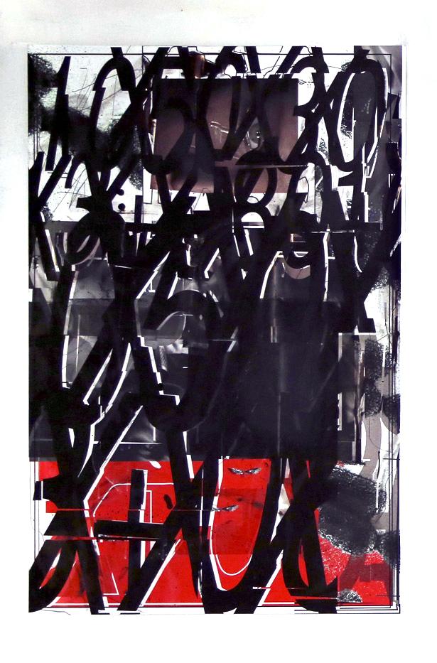 Jason Matthew Lee, ebl2 , 2014,inkjets, solvents, ink on canvas,45 x 30 in