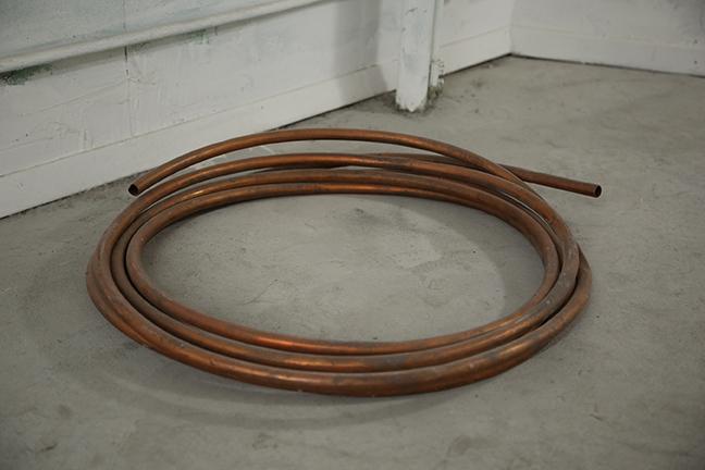David Flaugher, Unemployed, Ferdinand Hodler, 1891 ,2014,copper,26 x 26 x 2 in