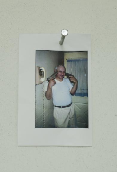 John Ingiaimo,  Untitled ,2014, photograph and nail, dimensions variable