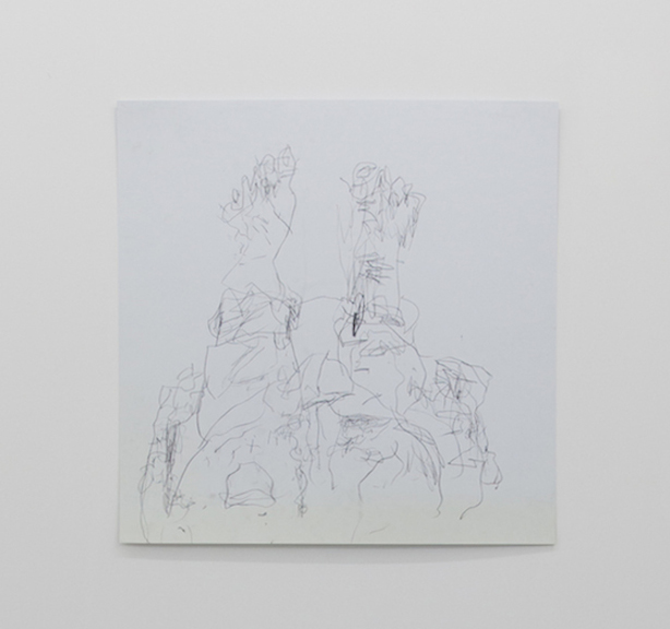 Ross Simonini,  Podiatric Mirror Drawing , 2013, pencil on paper, 24 x 24 in