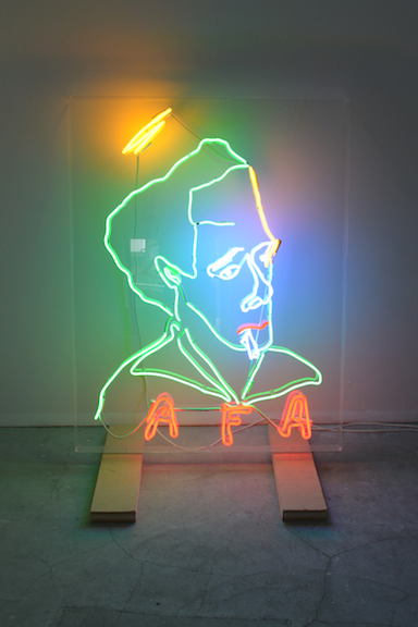 Spencer Sweeney,  Untitled , 2010, neon, 53 x 41 x 4 in
