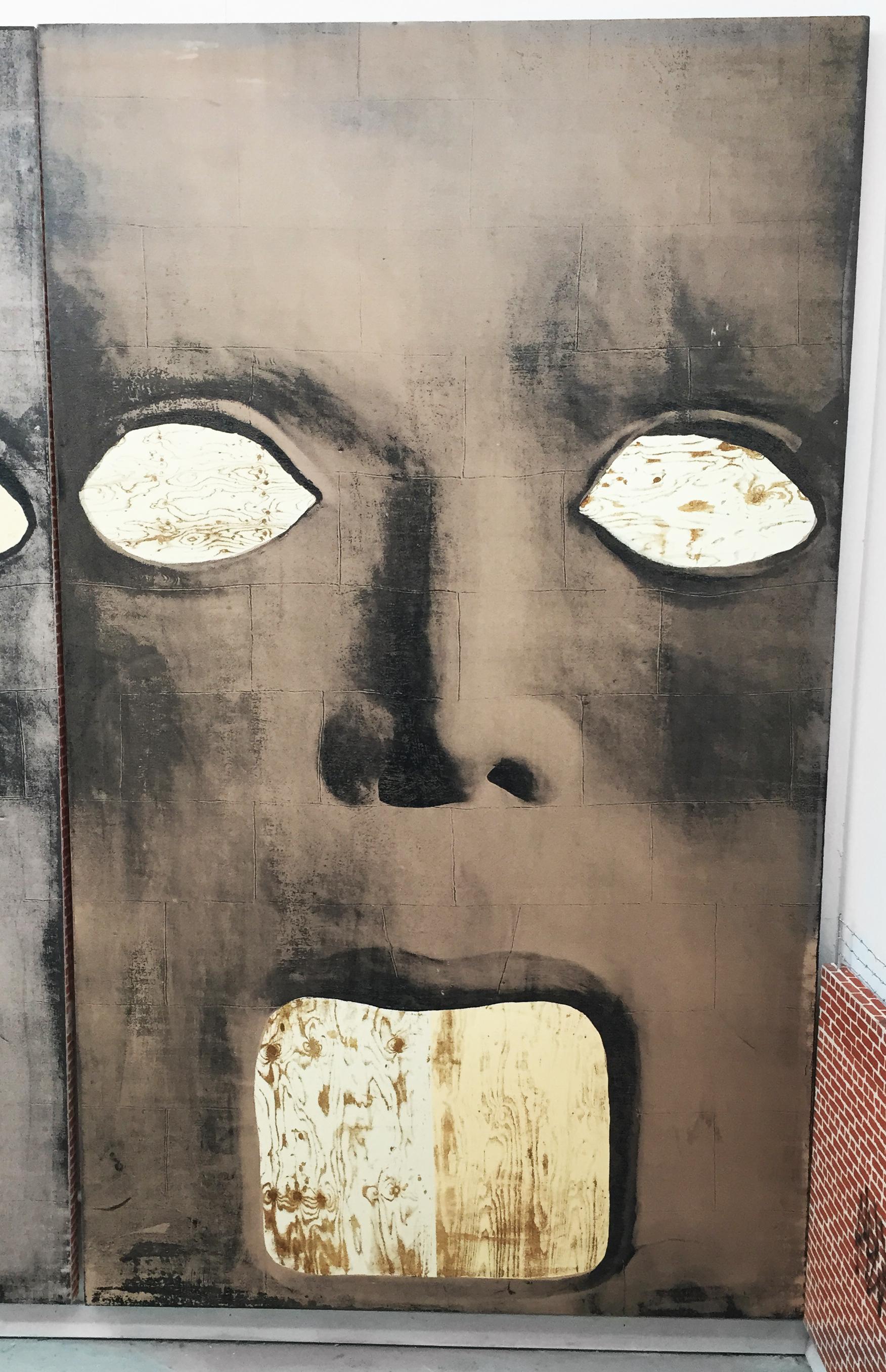 Pentti Monkkonen, Michael Jackson Blvd. , 2014,acrylic on canvas,72 x 43.25 in