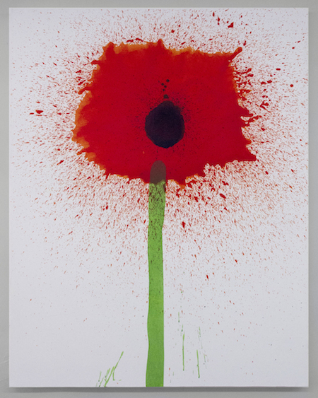 Keith Boadwee,  Poppies #7 , 2015, acrylic on canvas, 60 x 46 in
