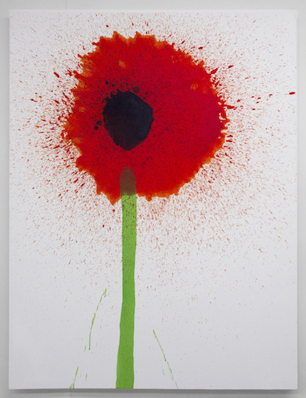 Keith Boadwee,  Poppies #8 , 2015, acrylic on canvas, 60 x 46 in