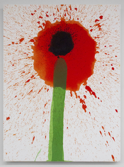 Keith Boadwee,  Poppies #3 , 2015, acrylic on canvas, 32 x 24.5 in