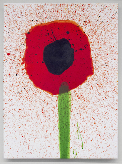 Keith Boadwee,  Poppies #2 , 2015, acrylic on canvas, 32 x 24.5 in