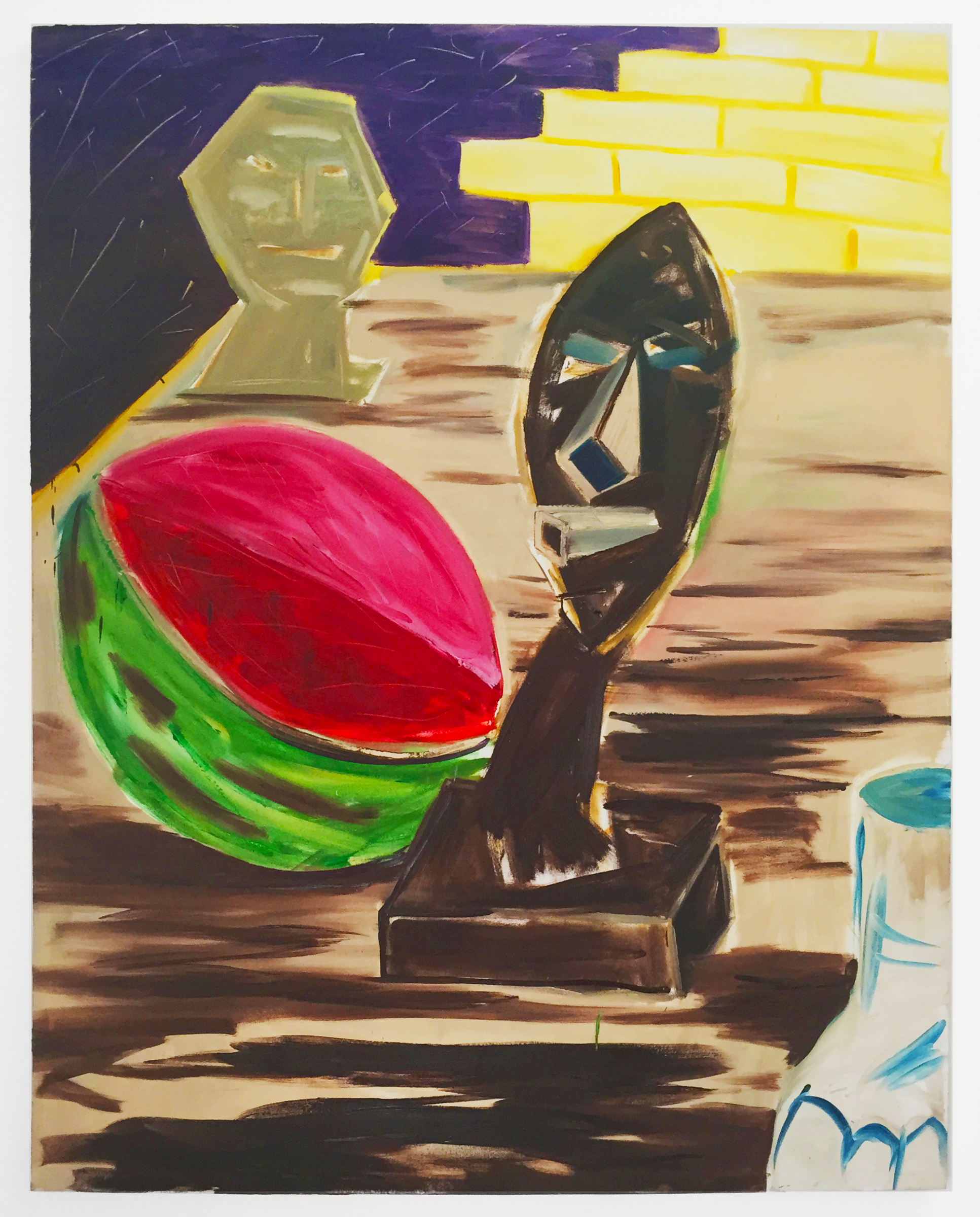 Keith Boadwee & Club Paint, Anthropological Survey , 2015, oil on canvas, 84 x 66 in