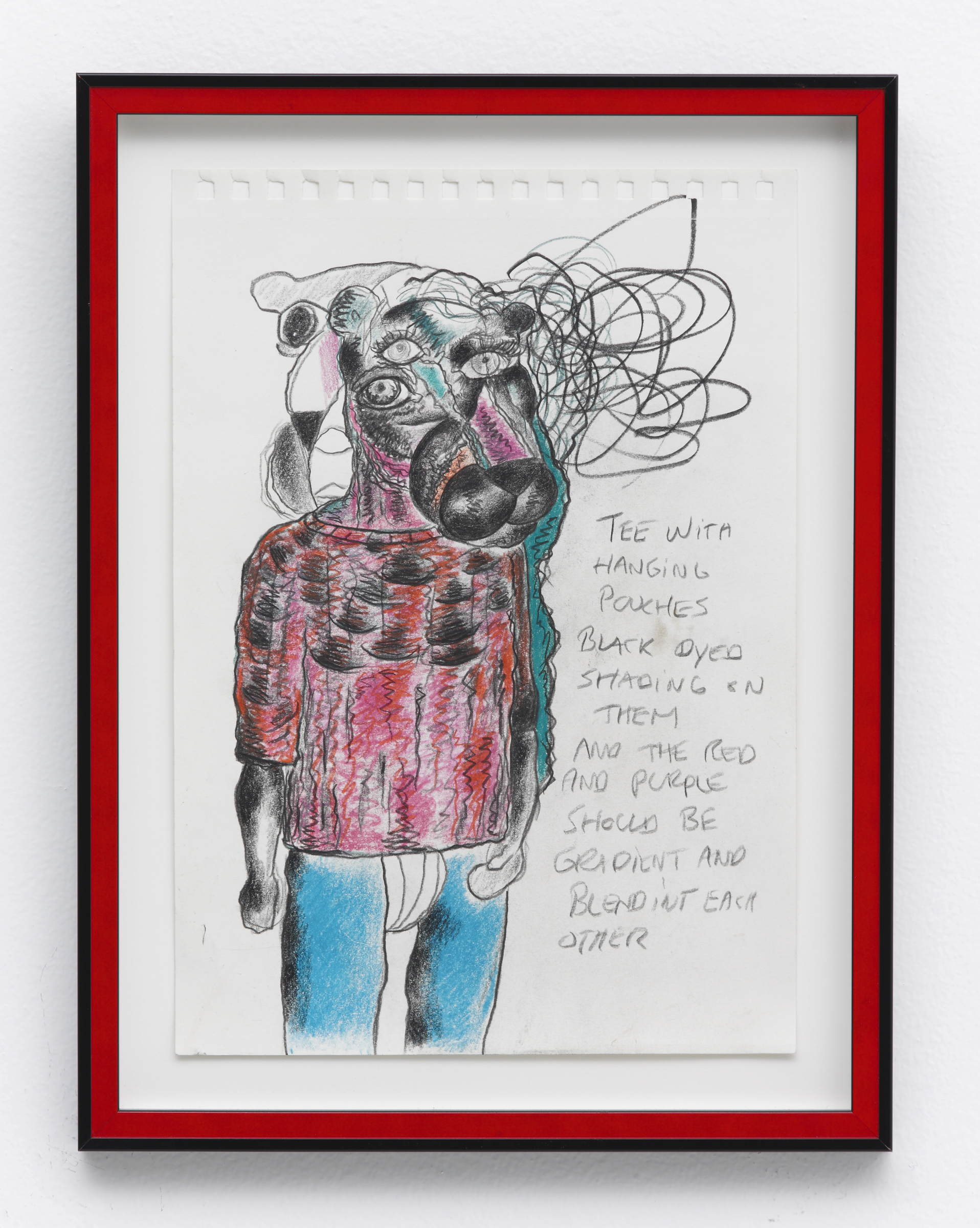 Bjarne Melgaard, Untitled , 2014, colored pencil on paper, 12.75 x 9 in