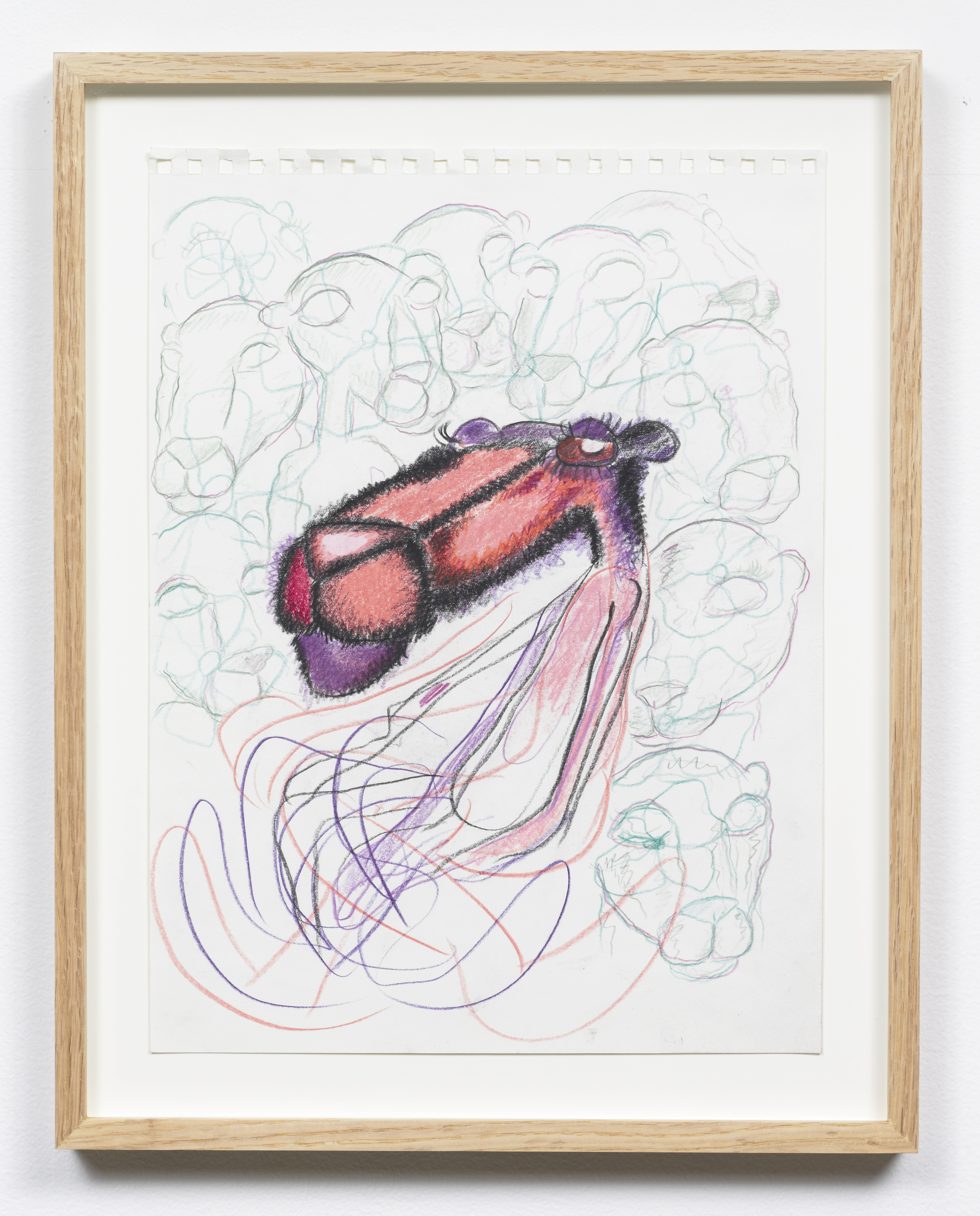 Bjarne Melgaard,  Untitled , 2012, colored pencil on paper, 15 x 11 in