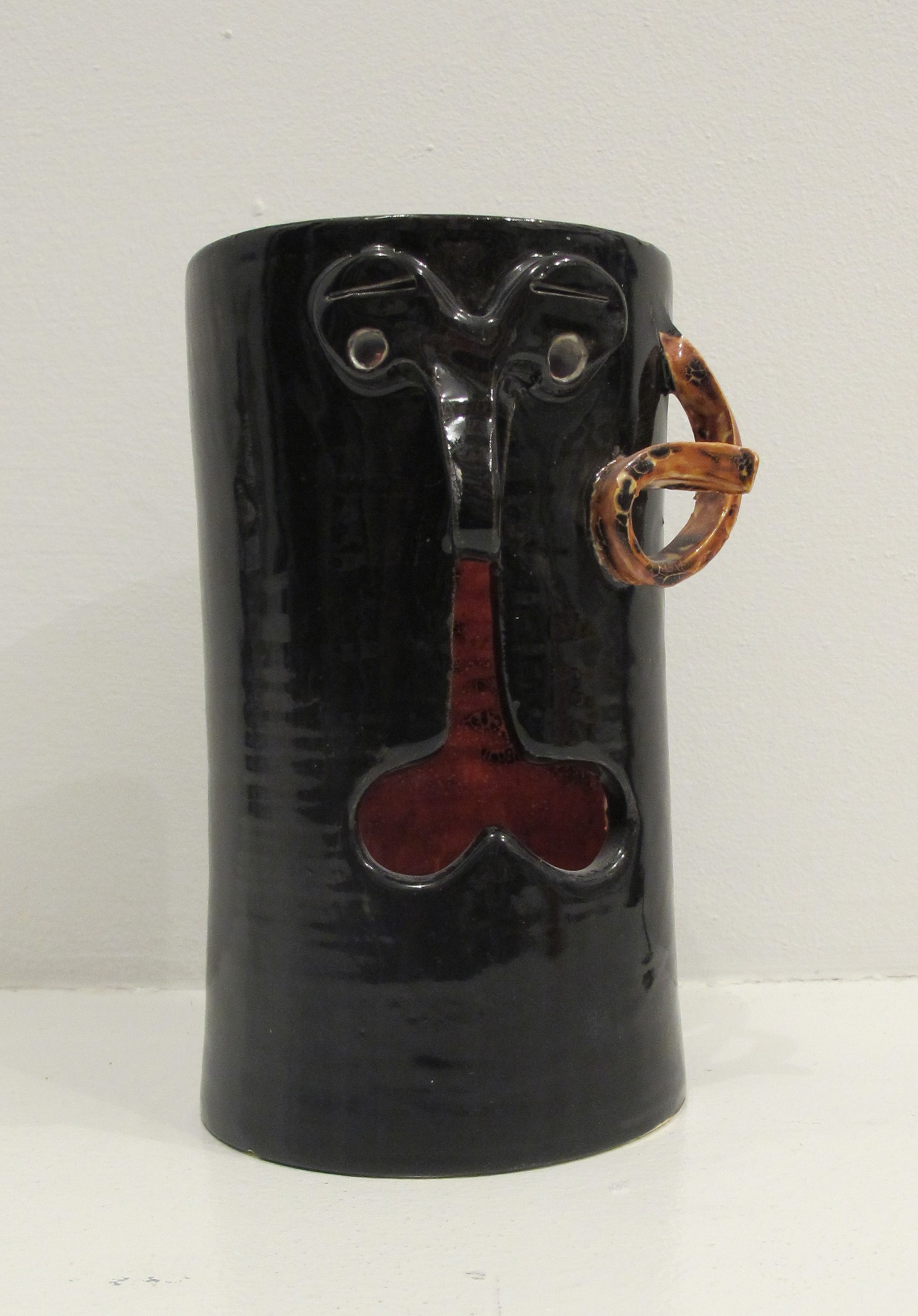 Bruce M. Sherman,  Untitled , 2013, stoneware, 7.5 x 4 x 4.5 in