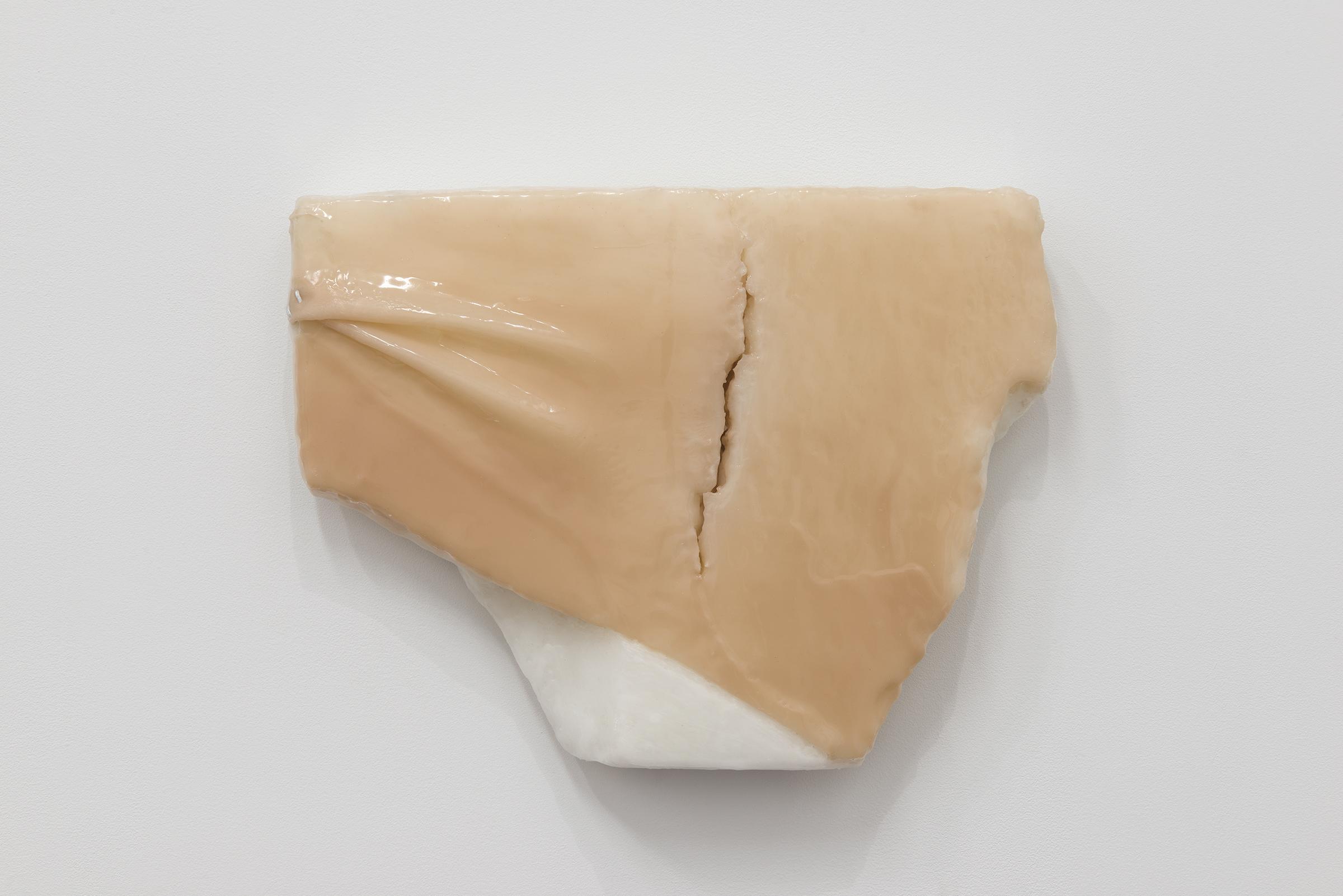 Ivana Basic, Ungrounding 2,  2014,wax, silicon, linoleum,16 x 12.5 x 2.5 in