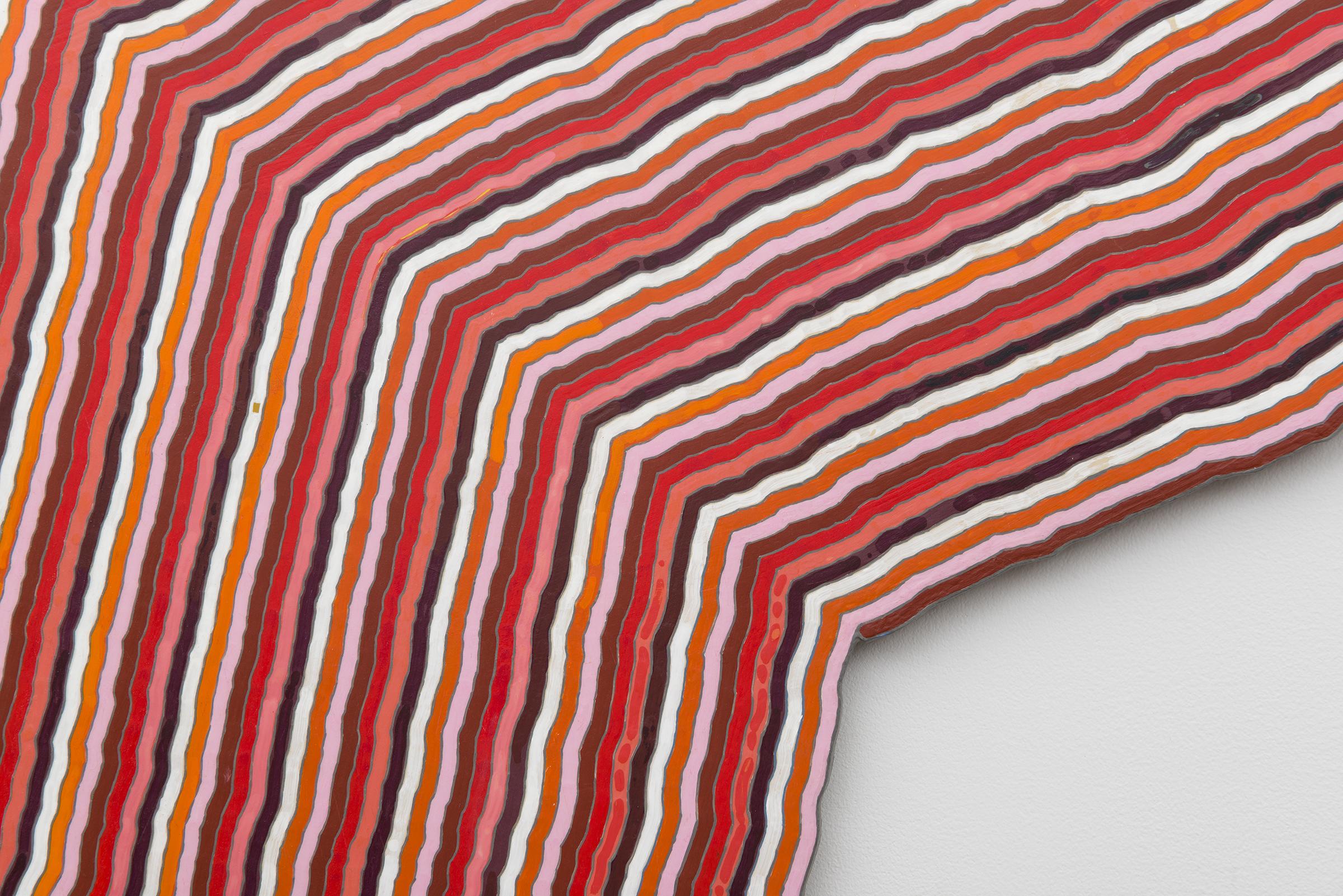 Roland Thompson, Autumn Aubade  (detail), 2005, acrylic on aluminum, 60 x 60 in
