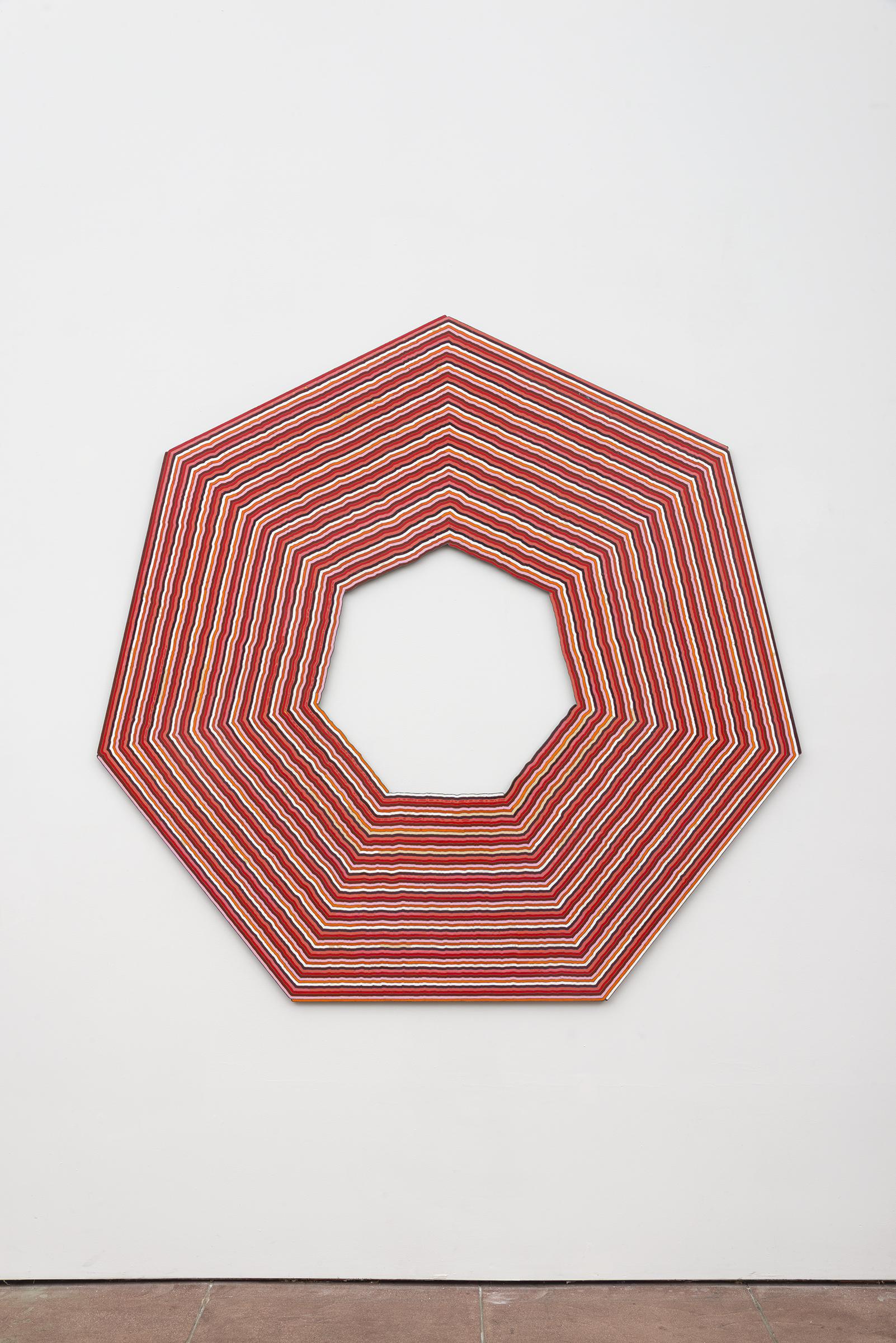 Roland Thompson, Autumn Aubade , 2005, acrylic on aluminum, 60 x 60 in