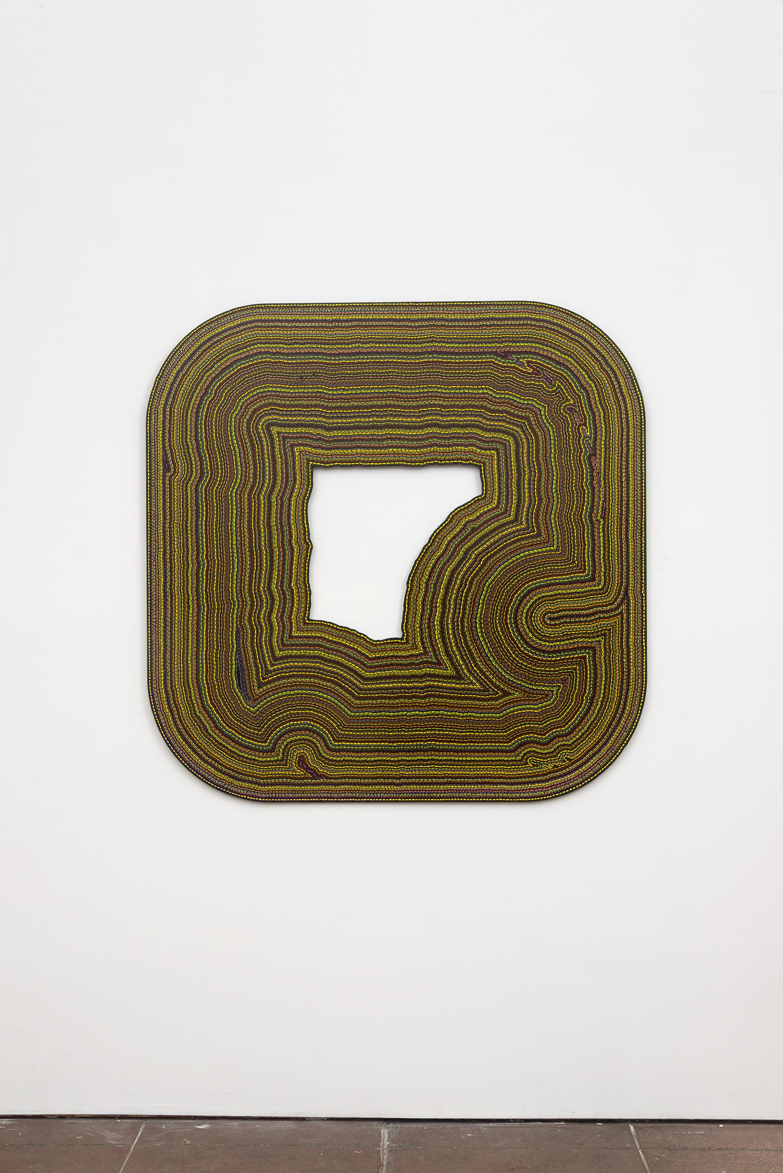 Roland Thompson, Tremble ,2003, acrylic on aluminum, 48 x 48 in