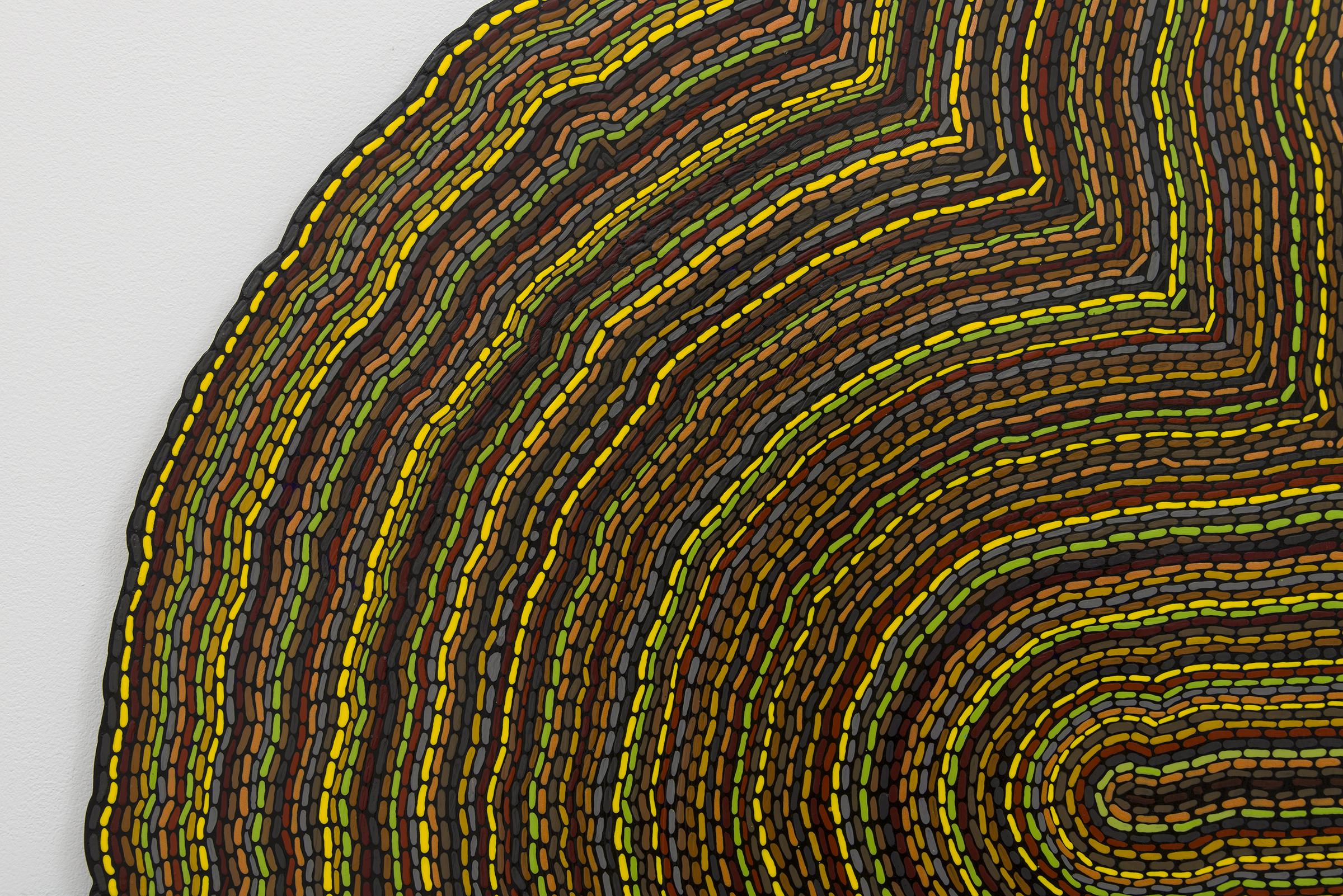 Roland Thompson, Tremble  (detail),2003, acrylic on aluminum, 48 x 48 in