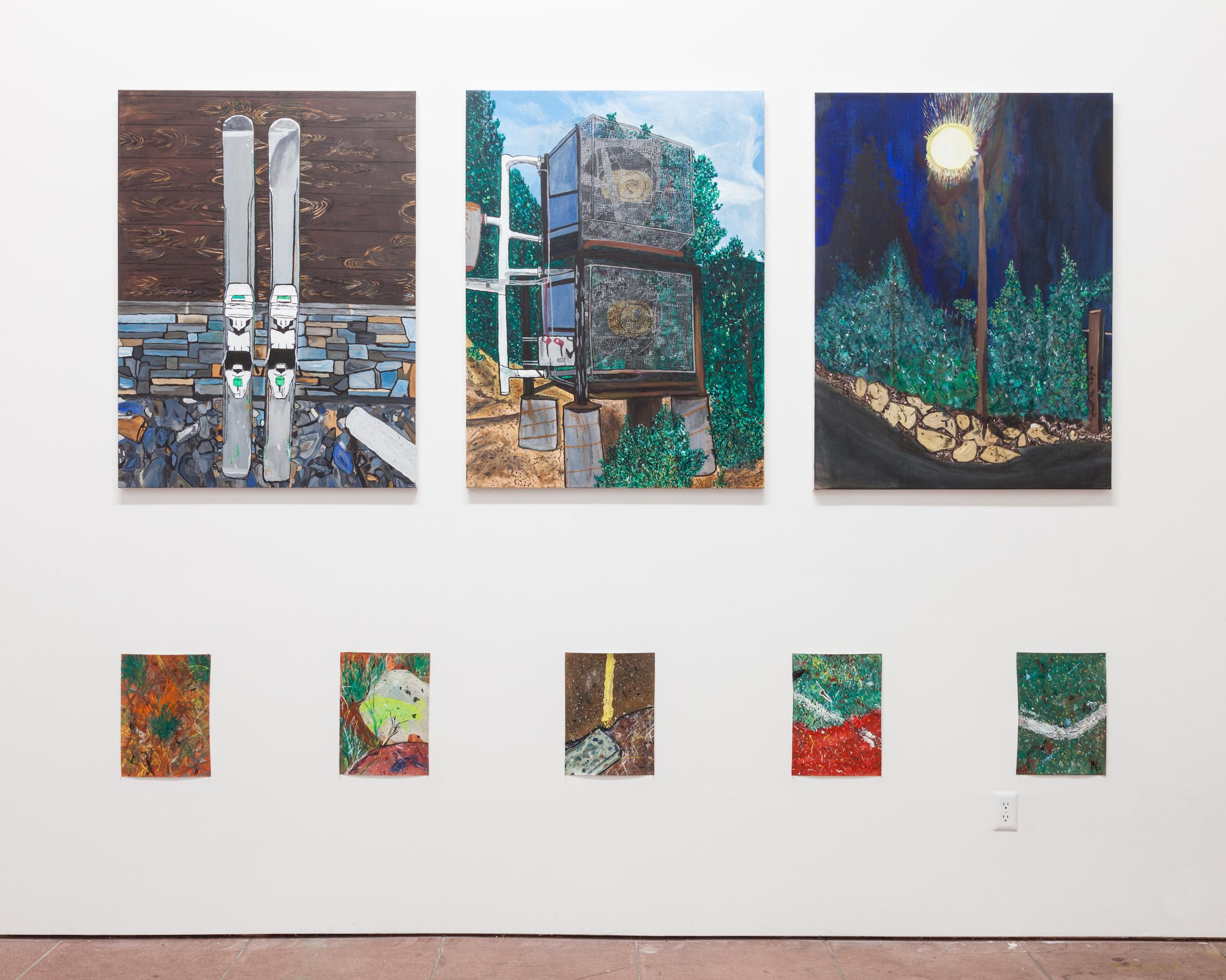Installation view, Incline Village , Martos Gallery, Los Angeles, 2016