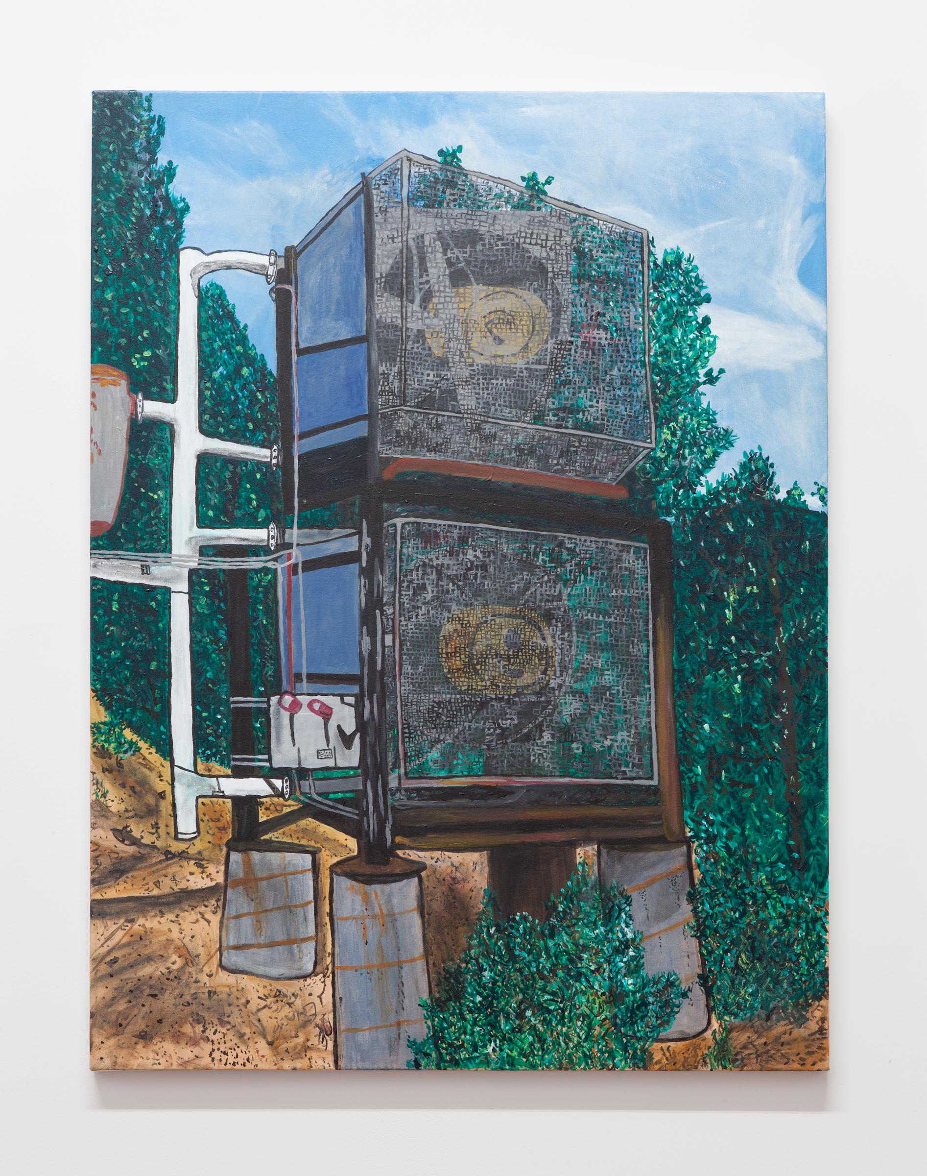 Jocko Weyland, Diamond Peak , 2014,acrylic on canvas,48 x 36 in