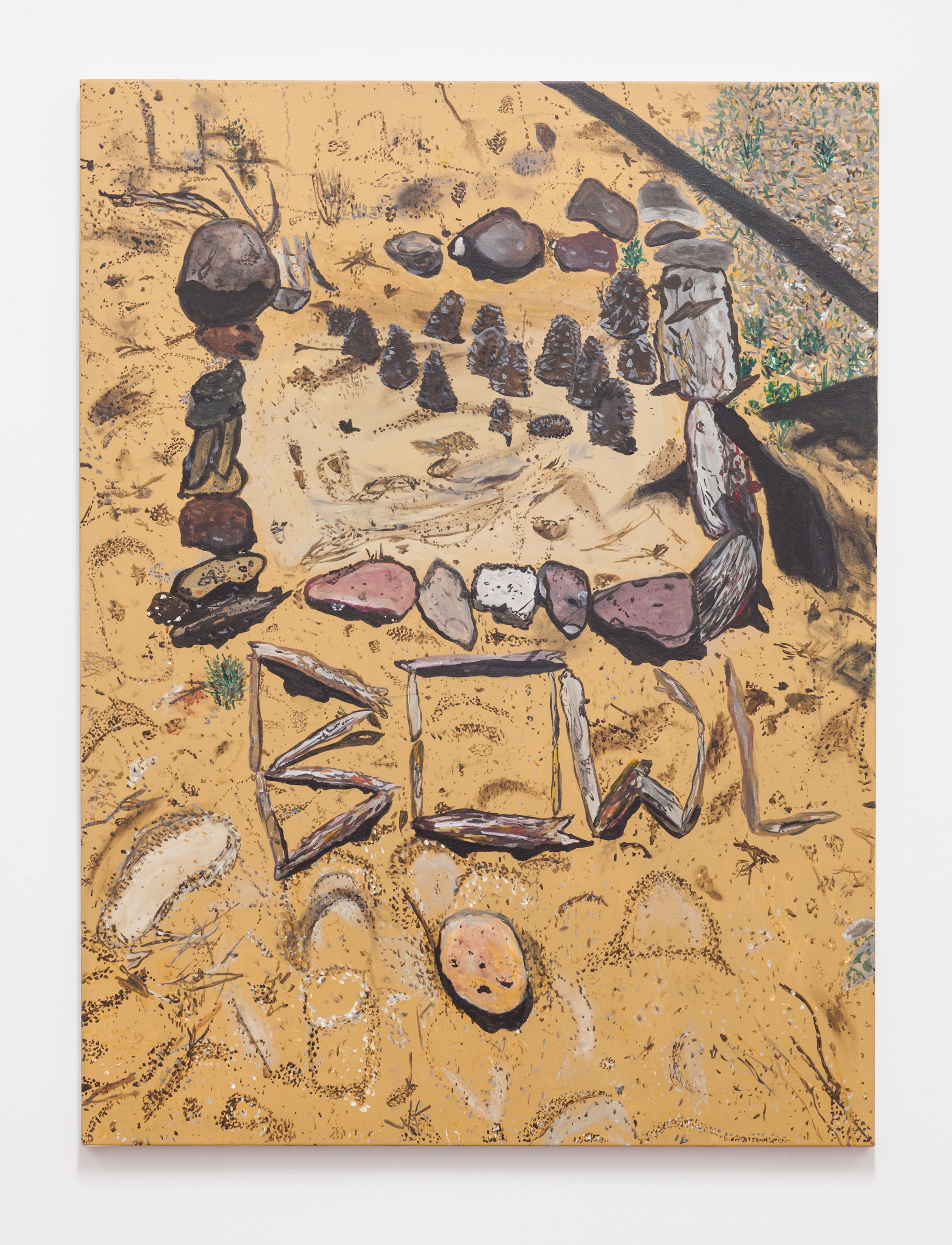 Jocko Weyland, Bowl , 2014,acrylic on canvas,48 x 36 in