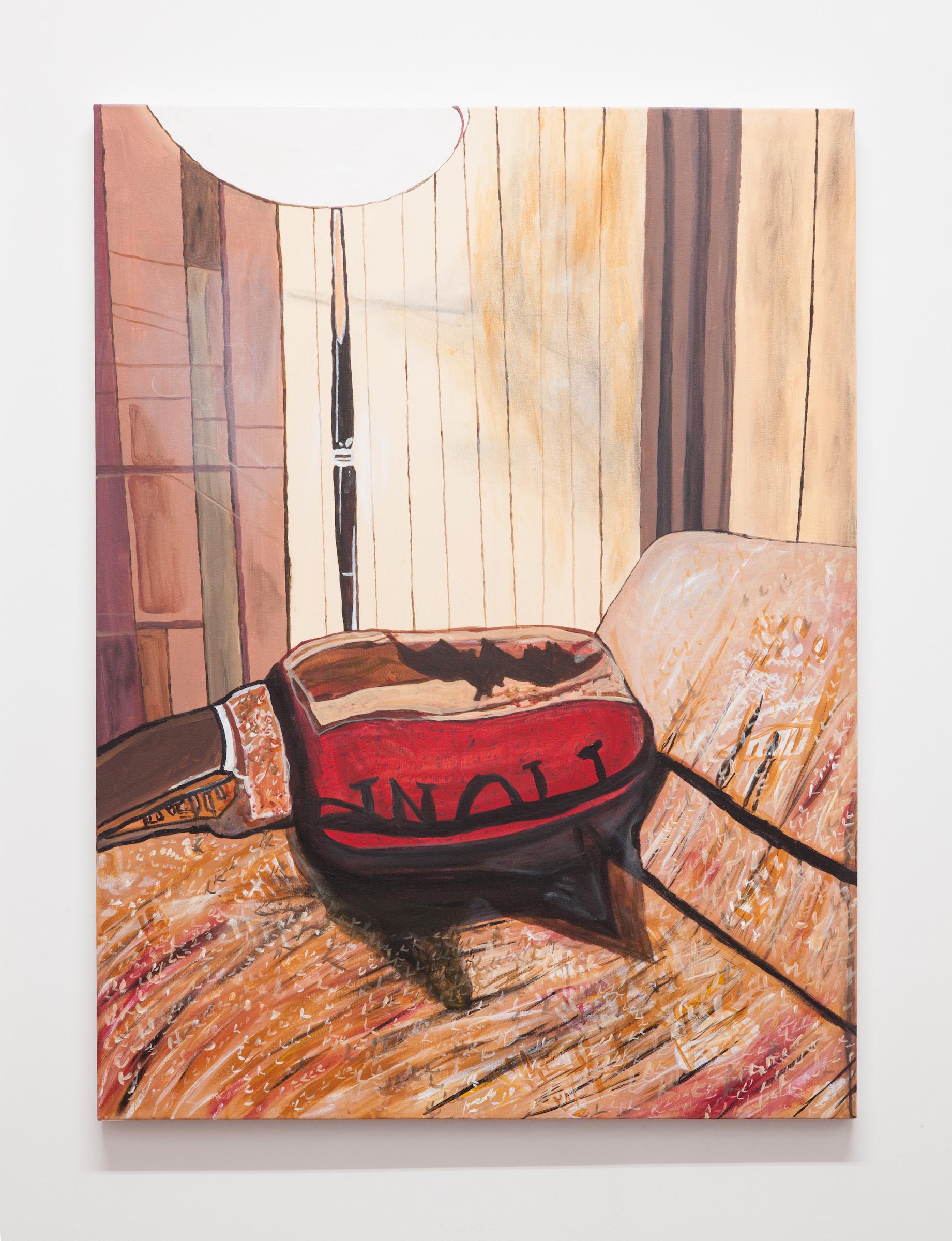 Jocko Weyland, Blanket ,2014,acrylic on canvas,48 x 36 in