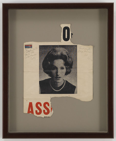 Wallace Berman,  Untitled [O/Ass] , 1966, newsprint, 27 x 22.5 inches framed
