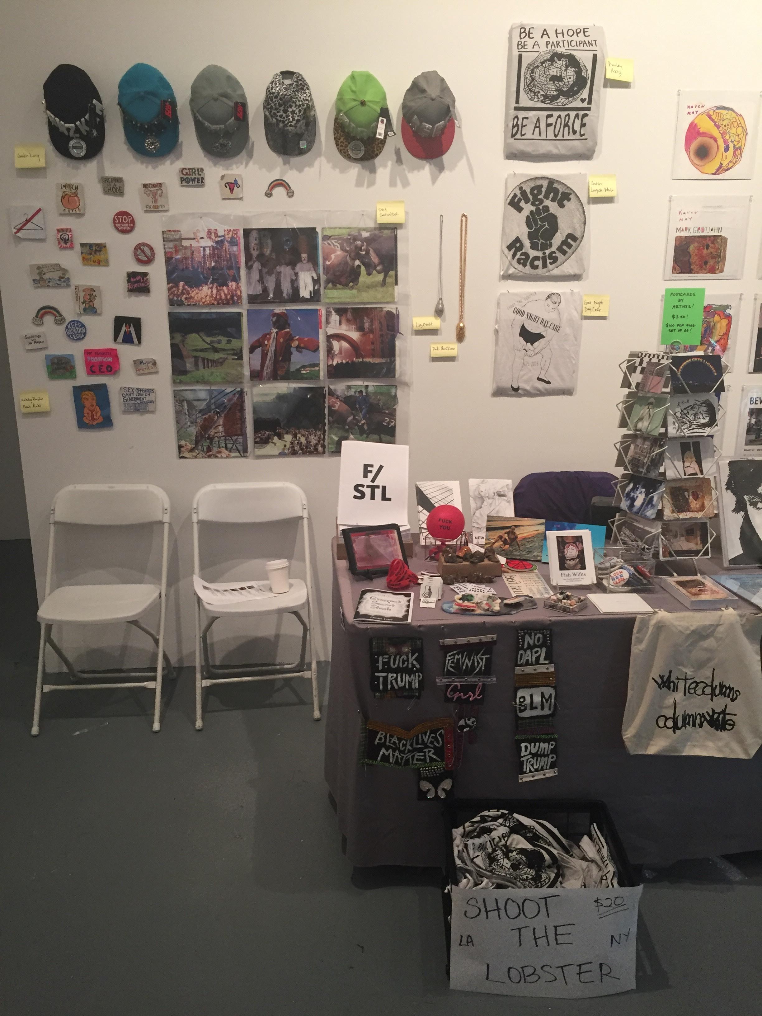 Installation view, LA Art Book Fair, MoCA Geffen, Los Angeles, 2017
