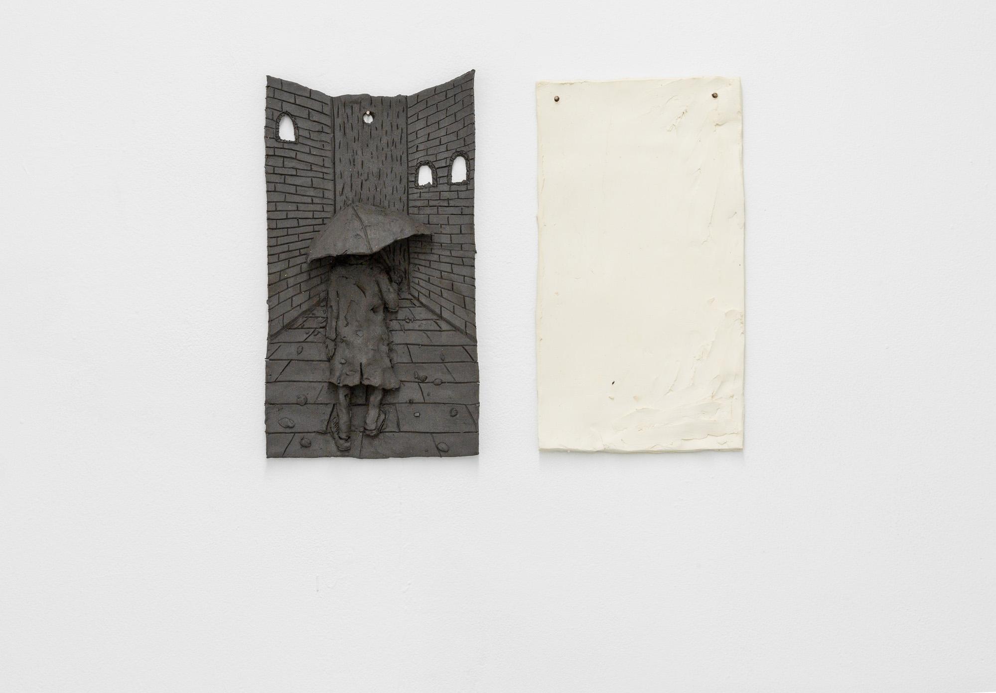Tom Forkin, 3,  2017,unglazed ceramic,12 x 15 x 2.5 in