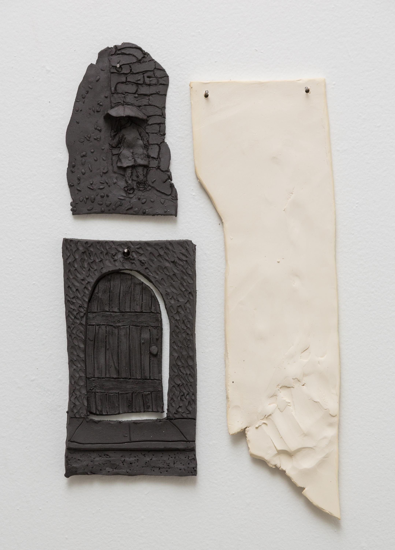 Tom Forkin, Two,  2017,unglazed ceramic,17 x 10 x 0.5 in