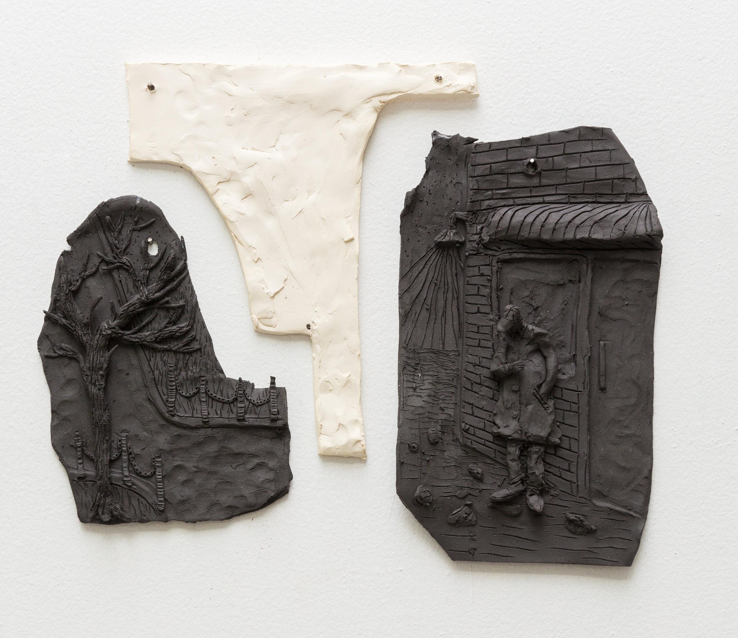 Tom Forkin, ST7,  2017,unglazed ceramic,13 x 16 x 1.5 in