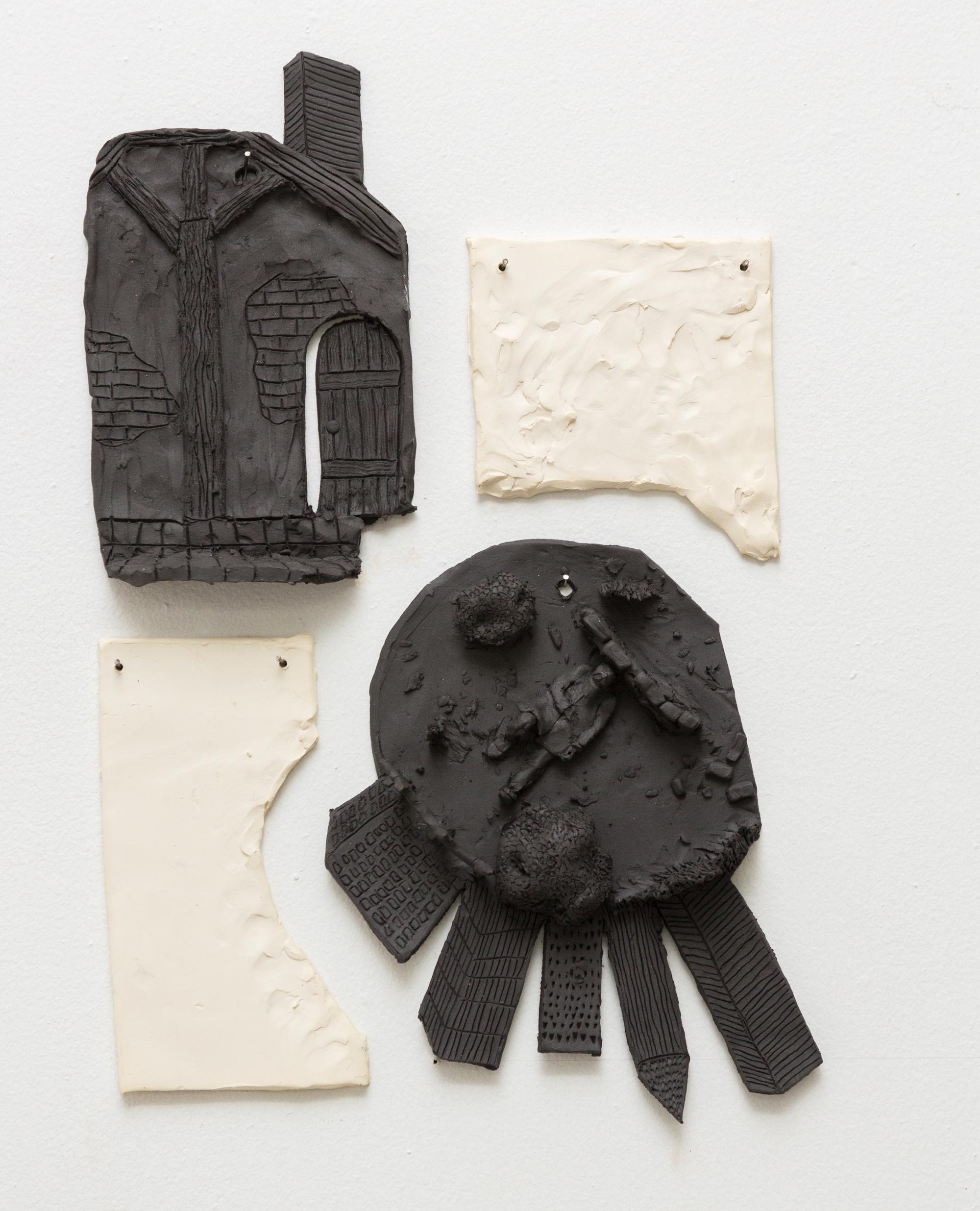 Tom Forkin, VI,  2017,unglazed ceramic,22 x 14 x 2 in