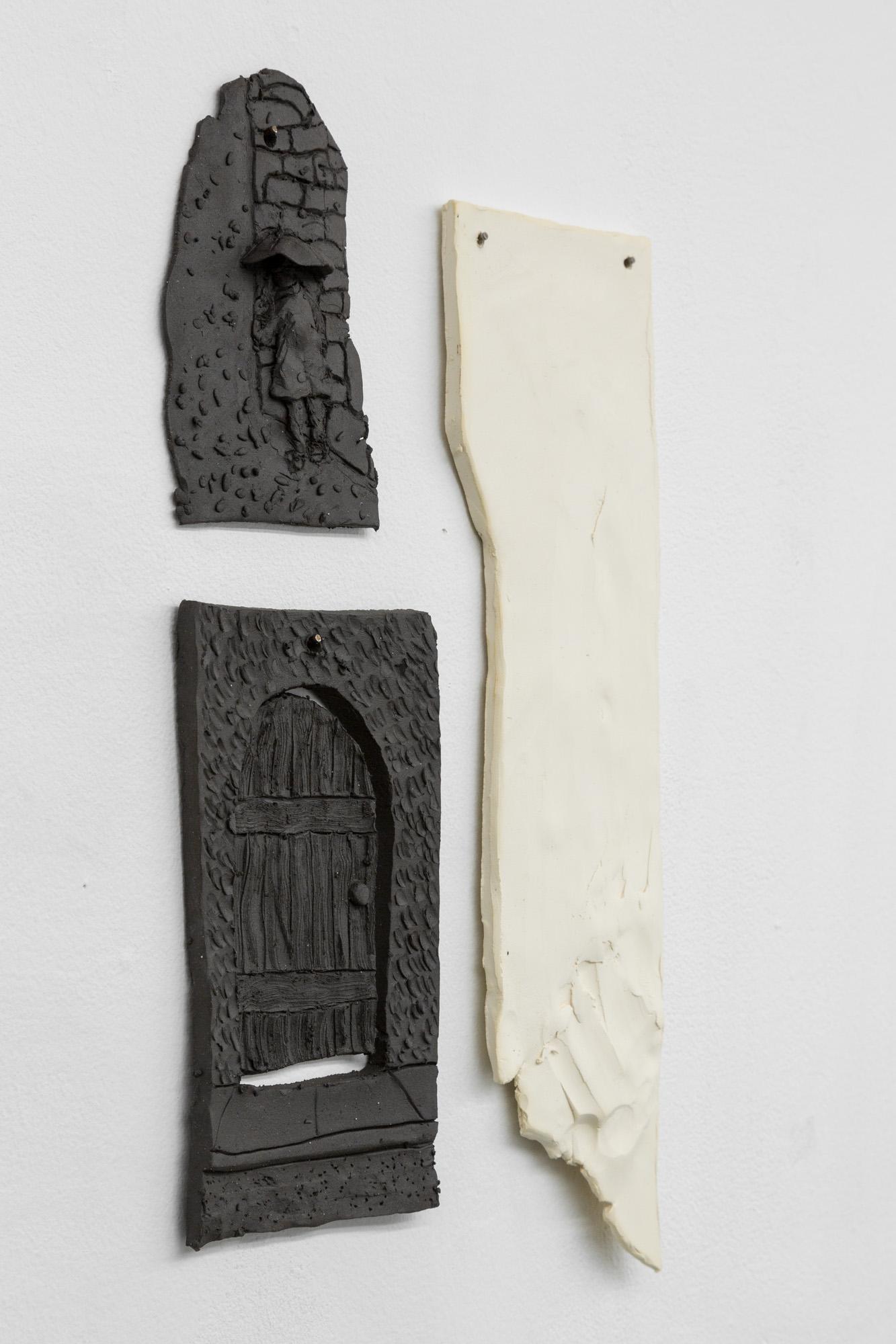 Tom Forkin, Two (detail),  2017,unglazed ceramic,17 x 10 x 0.5 in