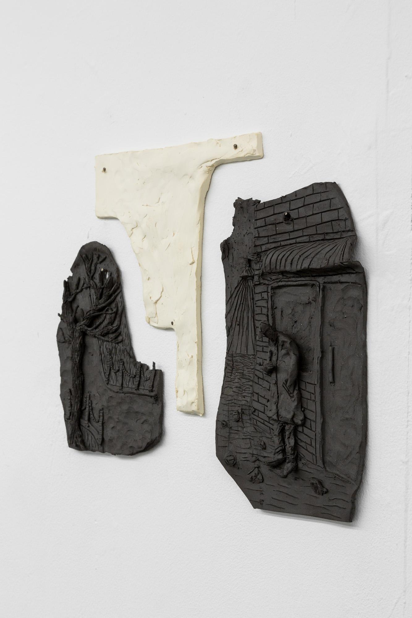 Tom Forkin, ST7 (detail),  2017,unglazed ceramic,13 x 16 x 1.5 in