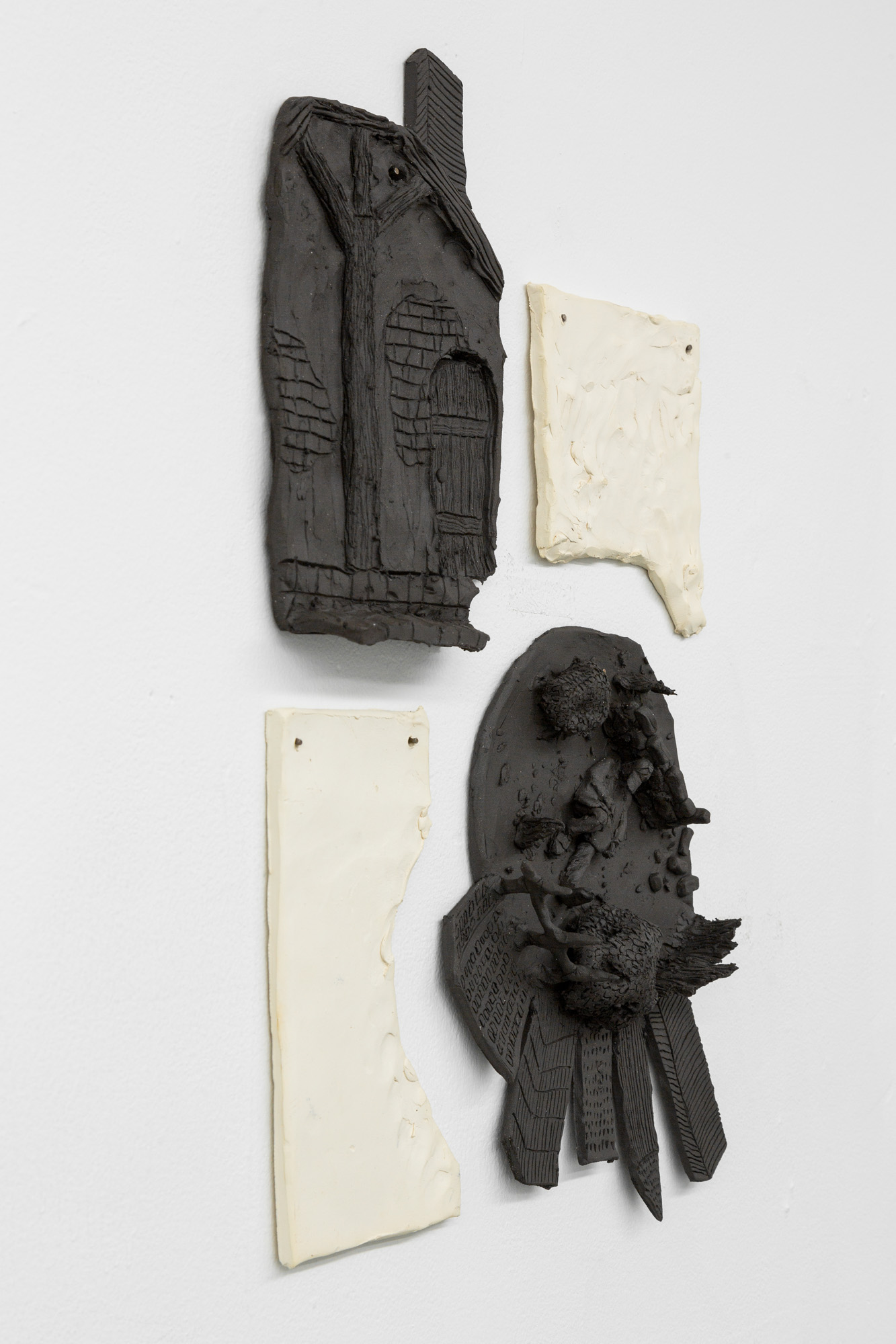 Tom Forkin, VI (detail),  2017,unglazed ceramic,22 x 14 x 2 in