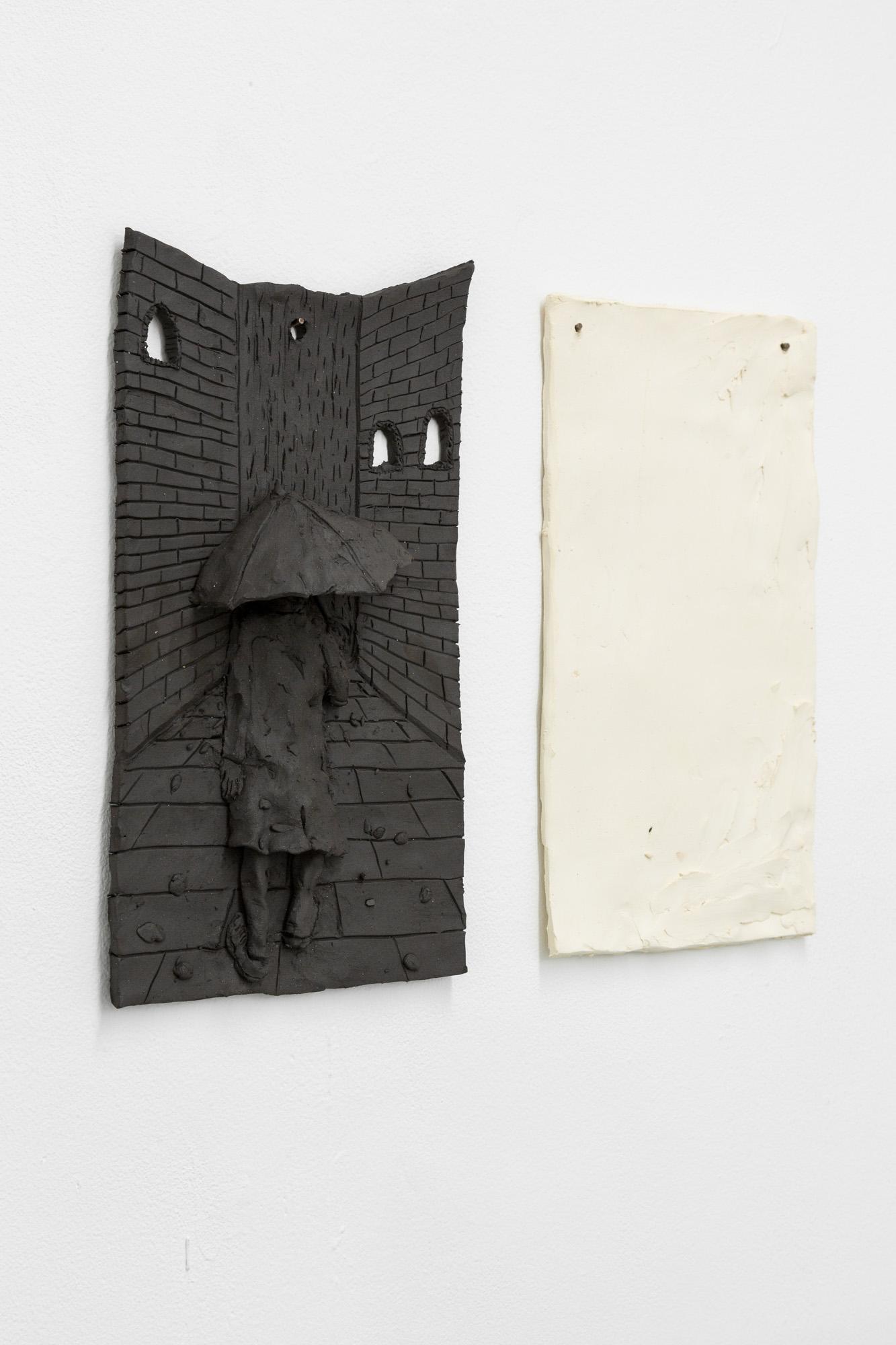 Tom Forkin, 3 (detail),  2017,unglazed ceramic,12 x 15 x 2.5 in
