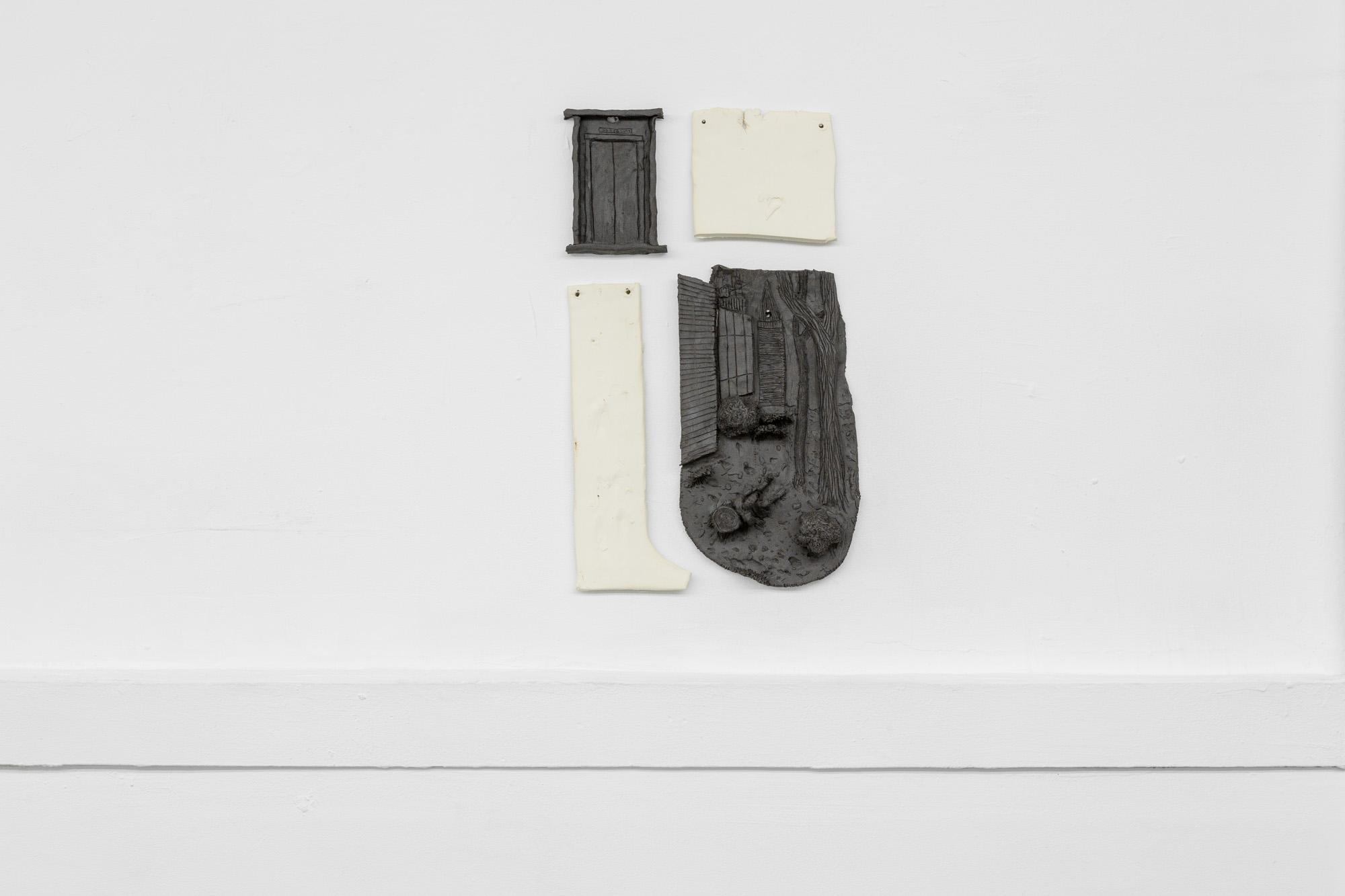 Tom Forkin, Manhattan V,  2017,unglazed ceramic,21 x 12 x 2 in
