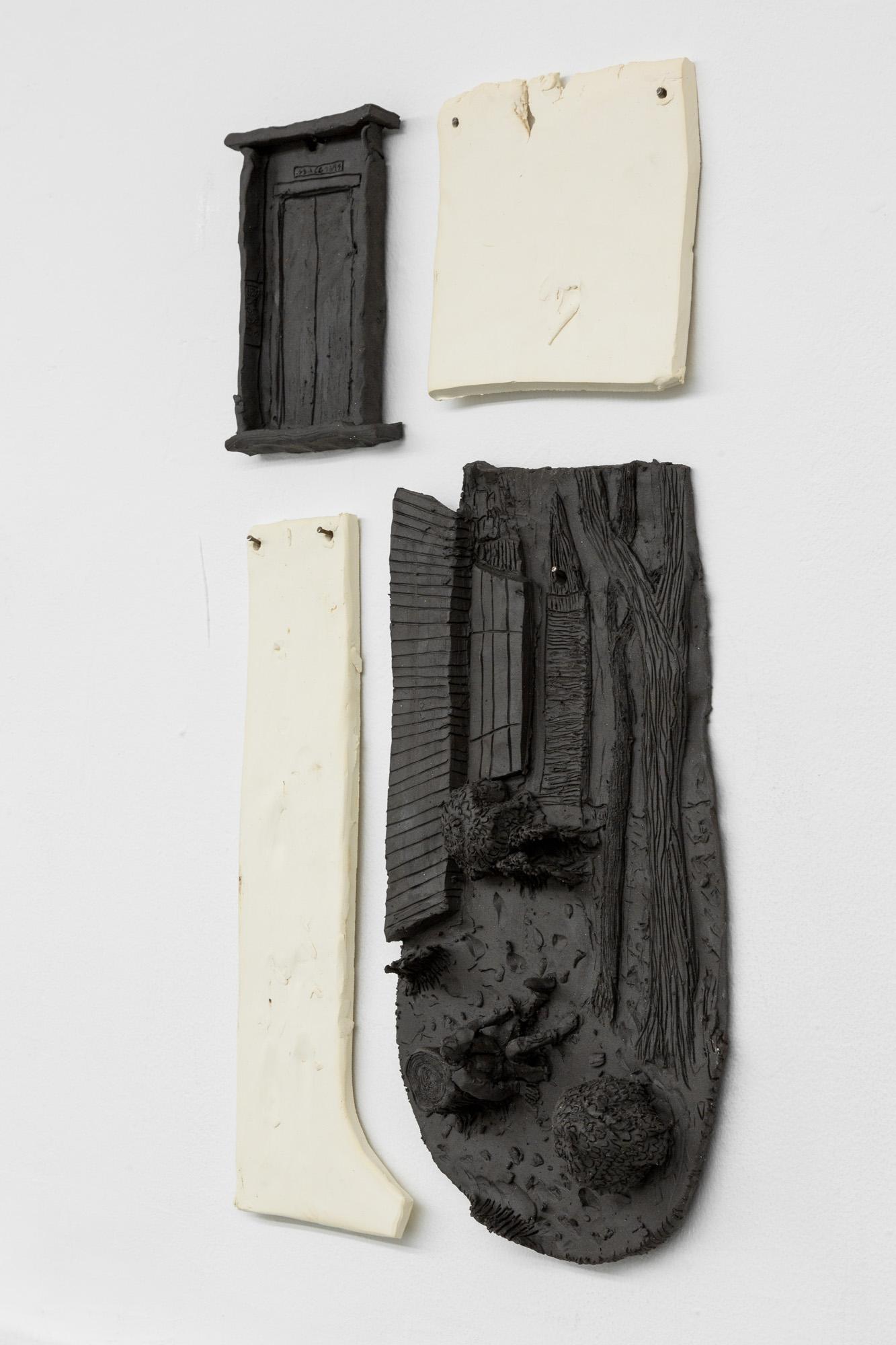 Tom Forkin, Manhattan V (detail),  2017,unglazed ceramic,21 x 12 x 2 in